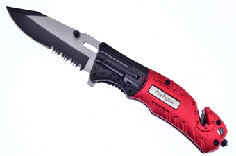 "4.75"" Firefighter Red Aluminum Snapshot"
