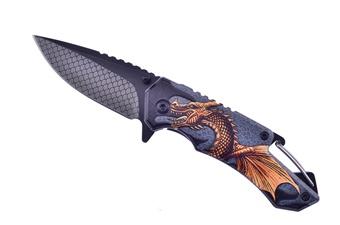 """3.5"""" Gold/Black 3d Aluminum Dragon"""