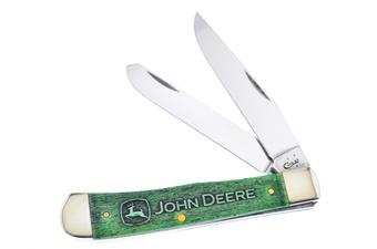 """4.125"""" Case Green Bone John Deere Trapper"""