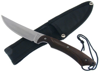 "8"" Black Pakkawood Bowie w/Sheath"