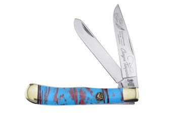 """4.125"""" Michael Prater Canyon Turquoise Trapper"""