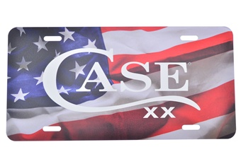 Case License Plate American Flag