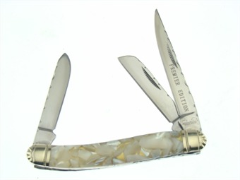 "3.5"" Crushed Mother Of Pearl Stockman"