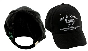 Hen & Rooster Cap Black