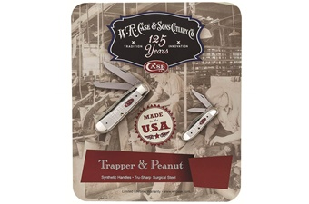 Closeout Case White Synthetic Trapper/Peanut Set(2)