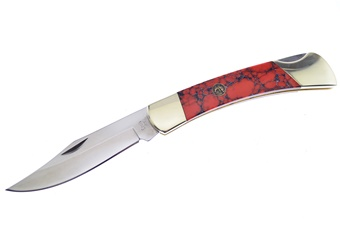 Closeout Michael Prater H&R Red Dinosaur Bone Lockback (1pc