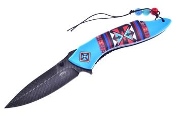 Closeout Blue Aztec Folder (1pc)
