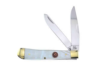 Prototype Steel Warrior Buffalo Penny Mother Of Pearl Trapper(1pc)