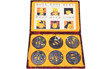 Collectible Tsuba w/Box (6pcs)