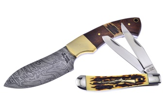 Valley Forge Damascus Stag Wedge (1