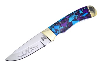 Michael Prater Hen & Rooster Turquoise Sugi Hunter (1pc