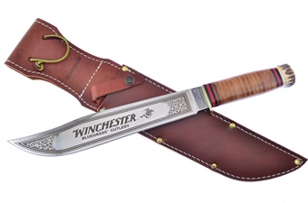 Rare Winchester Leather Stack Bowie (1