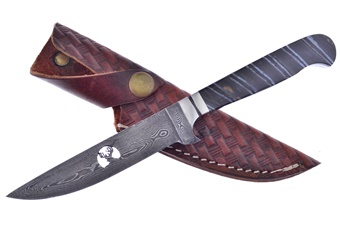 Hen + Rooster Black Mammoth Damascus Deer (1pc