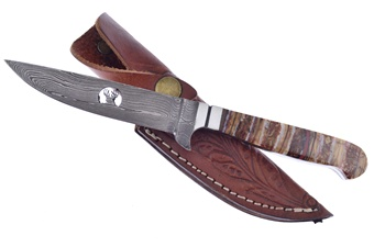 Hen + Rooster Pipeline Mammoth Damascus (1p