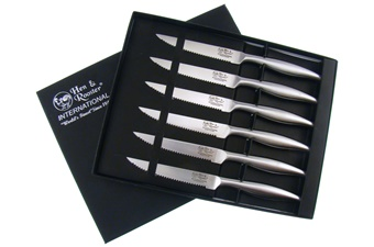 Hen + Rooster Stainless Steak Knife Set (6p