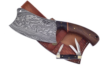 Valley Forge Damascus Cleaver (2