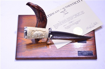 Prater North Ivory Damascus Knife (1pc)