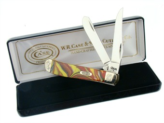 Case Mini Trapper Fire In The Box Engraved Bolsters (1