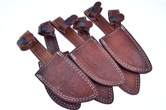 Double Stitch Leather Sheaths(6p