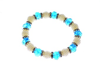 CCN-54870 Pearl & Blue Bracelet (1pc) [Other]