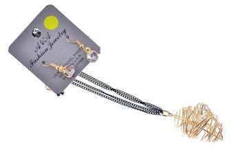 Beehive Pendant w/ Earrings (1pc