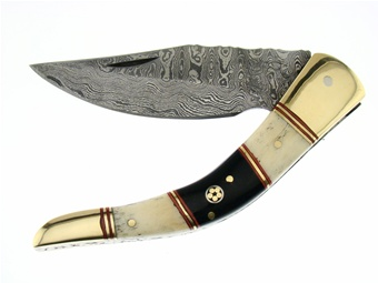 Trophy Stag Damascus Folder (1pc)