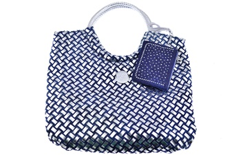 The Blue Basket Weave (1pc)