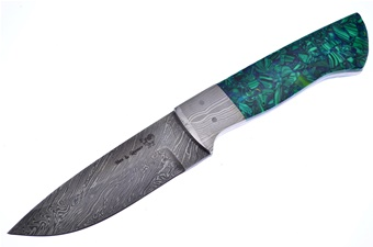 CCN-57512 H&R M.Prater Damascus Malachite (1p [Hen & Rooster]