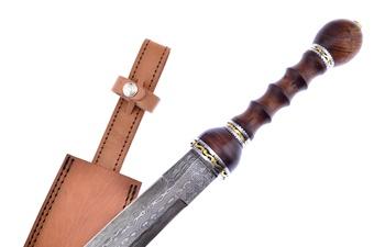 Damascus Gladius Rosewood Sword (1pc)