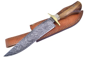Valley Forge Damascus Crocket Bowie (1pc)