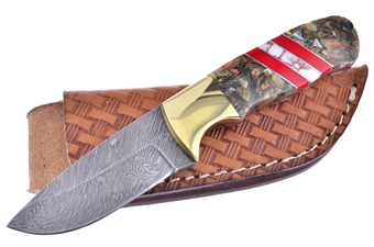Michael Prater Abalone Damascus Custom (1pc)