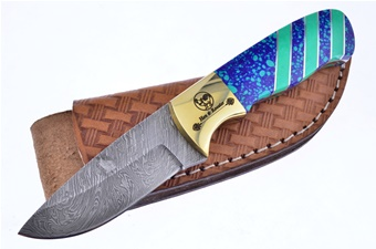 Michael Prater Blue Aqua Damascus (1pc)