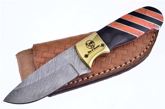 Michael Prater Orange Jasper Ox Damascus (1p