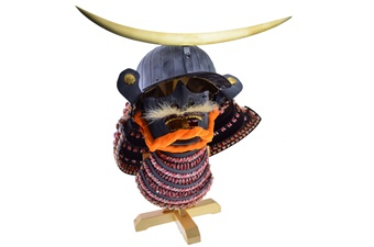 Black Japanese Helmet (1pc)