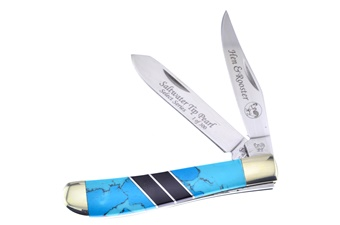 Michael Prater Boulder Turquoise Trapper (1pc)