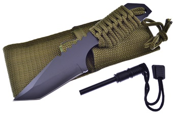 Firestarter Olive Drab Camp Knife (1pc)