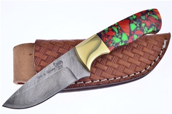 Closeout Michael Prater Damascus Spiny Green Hunter