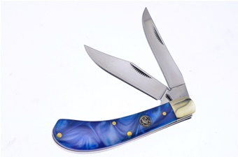 Prototype Crowing Rooster Blue Bayou Saddlehorn(1