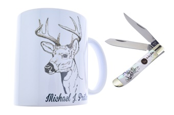 Closeout Michael Prater Pearl Trapper w/ Mug (1pc)