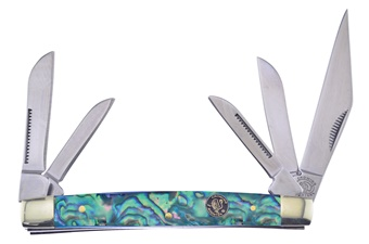"3.5"" Saltwater Abalone Kentucky 5-Blade"