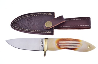 "7.5"" Second Cut Bone Bowie w/Sheath"