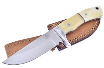 "8.75"" White Smoothbone Hunter w/Sheath"
