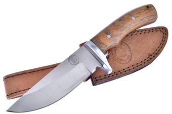 "8.75"" Walnut Wood Hunter w/Sheath"