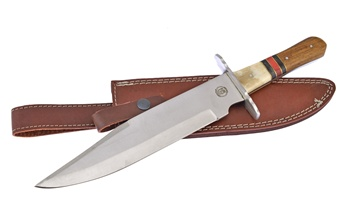 "14.5"" Rosewood/Bone Bowie w/Sheath"