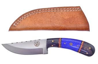 "8"" Buffalo Horn/Blue Bone Skinner w/Sheath"