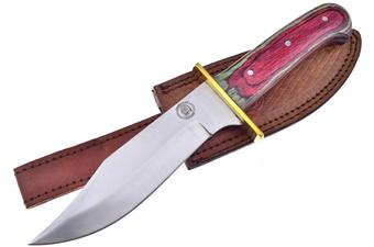 "10.5"" Frostwood Hunter w/Leather Sheath"