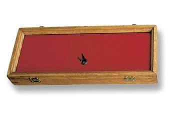 Hardwood Display Case 7 X 18 Red
