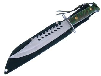 """13"""" Green Camo Survivial Knife"""