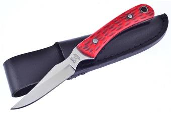 """6.5"""" Red Pickbone Caping Knife w/Sheath"""