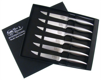 H&R Stainless Steel Steak Knife Set